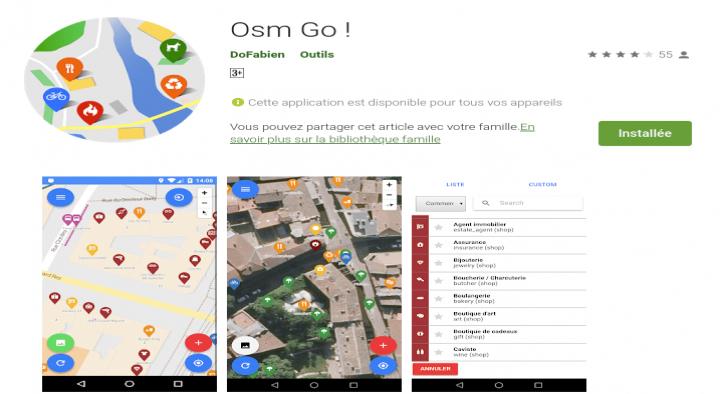 OSM Go, pour Contribuer à Openstreetmap